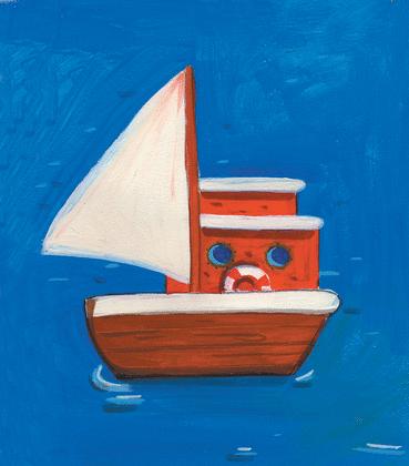 Bateau sur l'eau - illustration 1