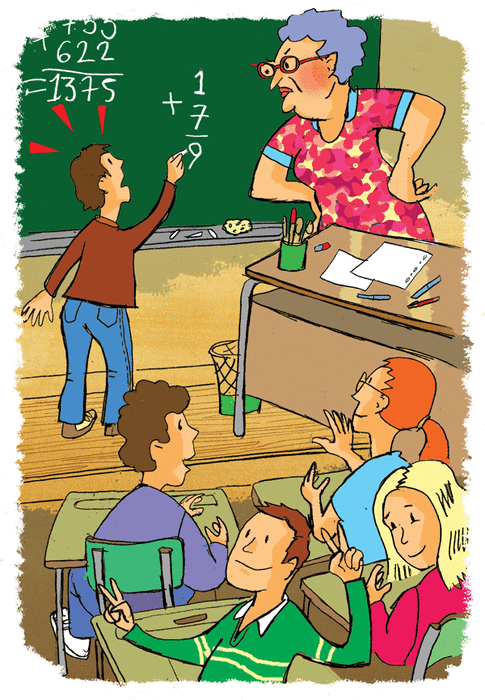 In the classroom - illustration 1