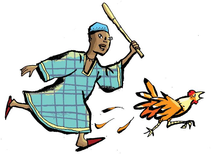 L'oiseau et la poule - illustration 1