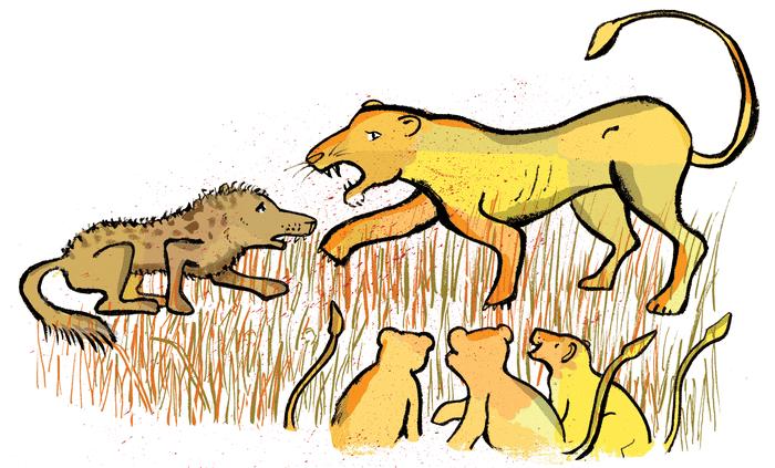La Lionne et l'Hyène - illustration 1