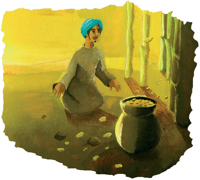 Les deux frères, la marmite et le bâton - illustration 1