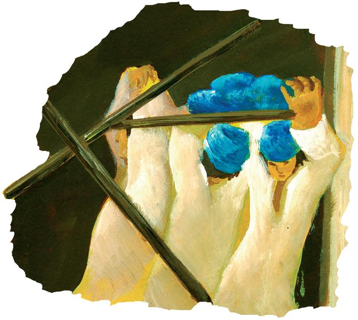 Les deux frères, la marmite et le bâton - illustration 2