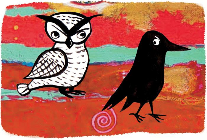 Le grand corbeau et le harfang des neiges - illustration 1