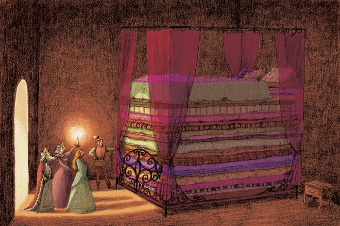 La Princesse au petit pois - illustration 1