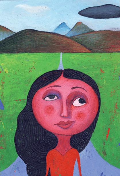 Les visages sur le mur - illustration 2