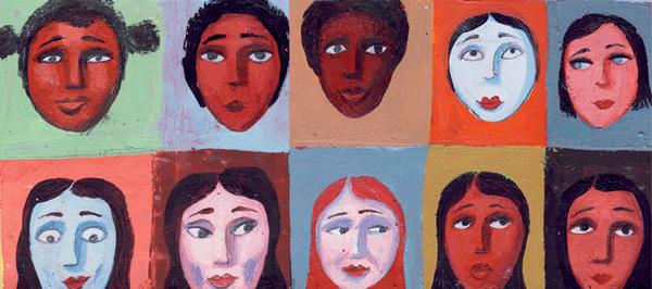 Les visages sur le mur - illustration 3