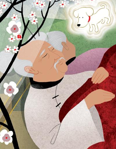 Le grand-père qui faisait fleurir les arbres - illustration 3