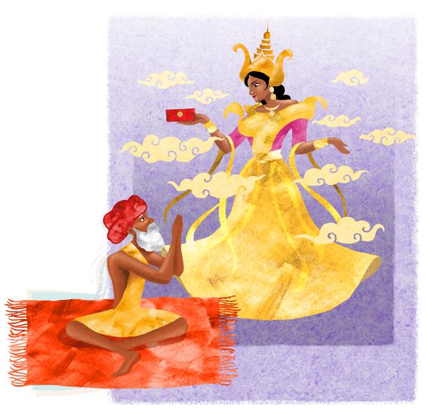 Le brahmane et la déesse Durga - illustration 1