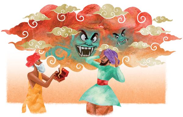 Le brahmane et la déesse Durga - illustration 4
