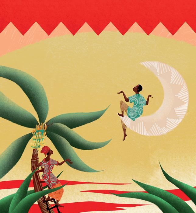 La Lune et le bananier - illustration 1