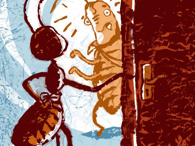 La Cigale et la Fourmi - illustration 1