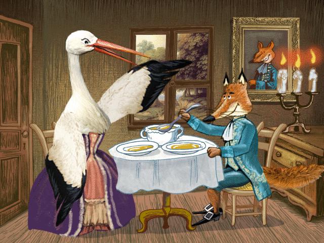 Le Renard et la Cigogne - illustration 1