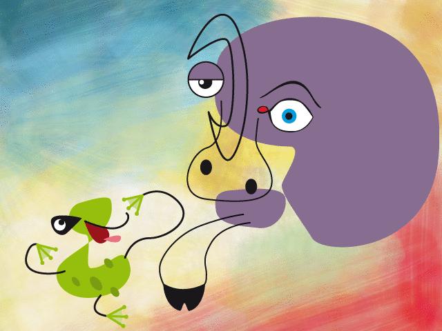 La Grenouille qui se veut faire aussi grosse que le Boeuf - illustration 1