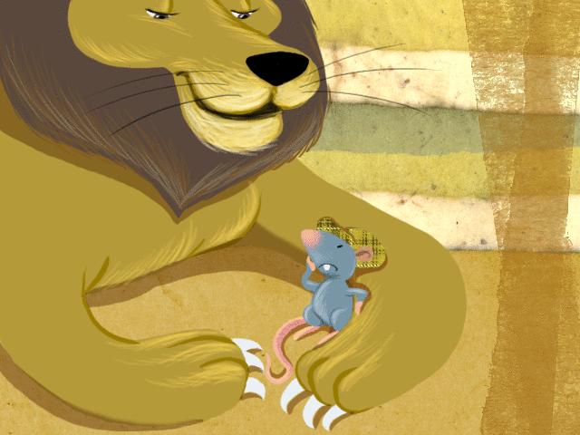 Le Lion et le Rat - illustration 1
