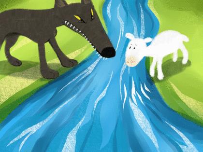 Le Loup et l'Agneau - illustration 1