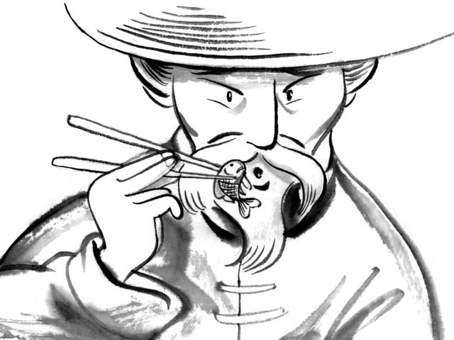 Le Petit Poisson et le Pêcheur - illustration 1