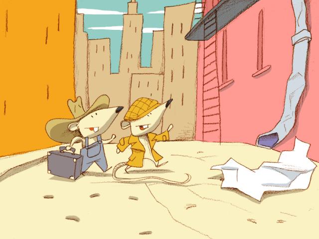 Le Rat de ville et le Rat des champs - illustration 1